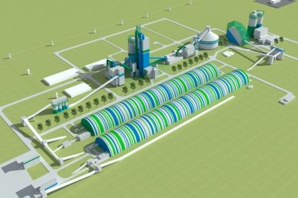 Cement manufacturing process in NORM Sementplant
